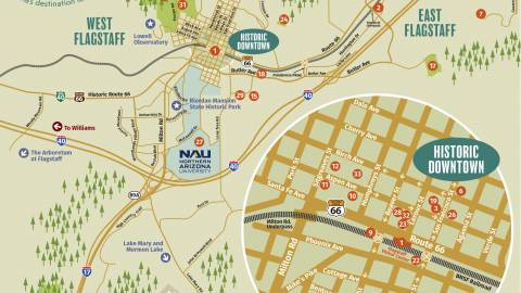 Arizona Points Of Interest Map.Flagstaff Arizona Maps Discover Flagstaff