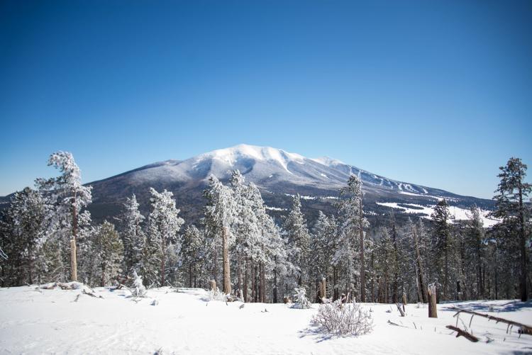 winter snow on mountains